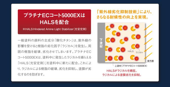 プラチナECコート5000EXはHALSを配合